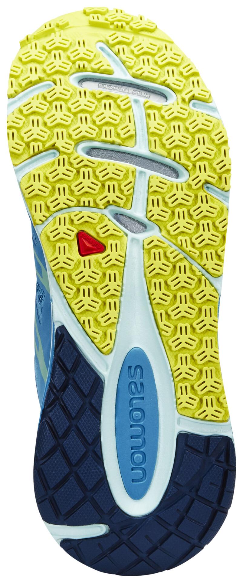 Salomon X Tour 2 Trailrunning Schuhe Damen mist blueslatebluegecko green